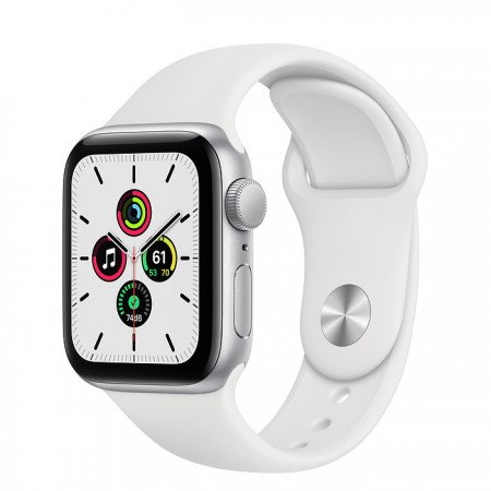 Apple Watch SE 40mm Silver with White Sport Band