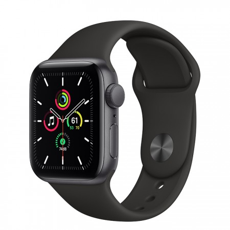 Apple Watch SE 40mm Space Gray with Black Sport Band