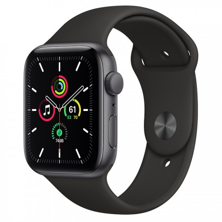 Apple Watch SE 44mm Space Gray with Black Sport Band
