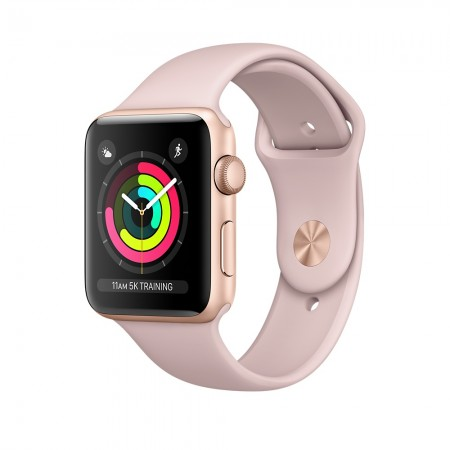 Apple Watch Series 3 GPS 38mm Gold with Pink Sand Sport Band
