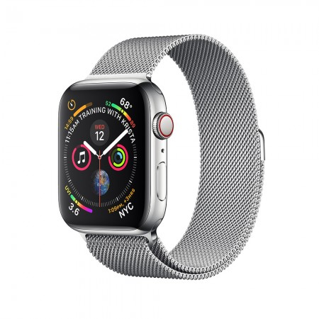 Apple Watch Series 4 GPS + Cellular 40mm Stainless Steel with Milanese Loop