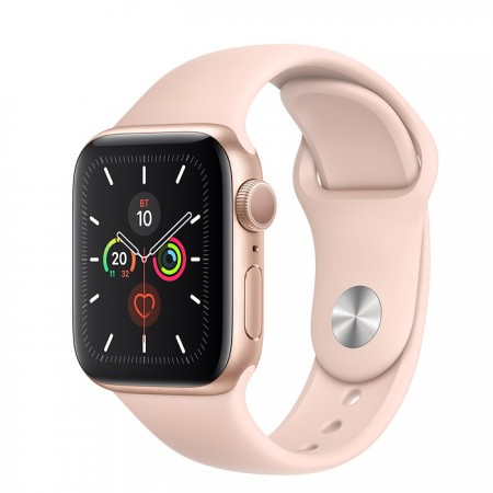 Apple Watch Series 5 GPS 40mm Gold with Pink Sand Sport Band