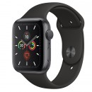 Apple Watch Series 5 GPS 44mm Space Gray with Black Sport Band