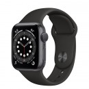 Apple Watch Series 6 40mm Space Gray with Black Sport Band