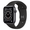 Apple Watch Series 6 44mm Space Gray with Black Sport Band