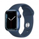 Apple Watch Series 7 41mm Blue Aluminum Case with Abyss Blue Sport Band
