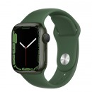 Apple Watch Series 7 41mm Green Aluminum Case with Clover Sport Band