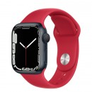 Apple Watch Series 7 41mm Red Aluminum Case with (PRODUCT)RED Sport Band