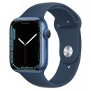 Apple Watch Series 7 45mm Blue Aluminum Case with Abyss Blue Sport Band